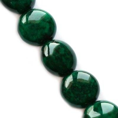marble drops dyed green 6 x 4 mm / natural stone dyed