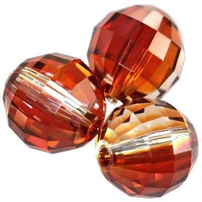 Swarovski chessboard beads crystal red magma 8 mm