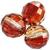 Swarovski chessboard beads crystal red magma 8 mm