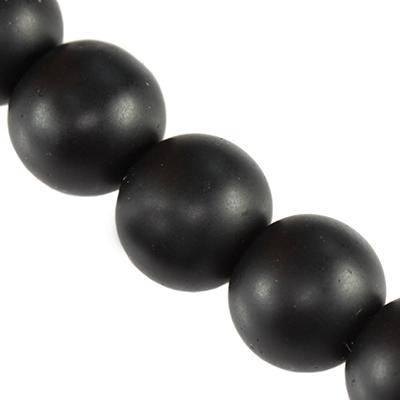 Pietra onice perle tonde nero opaco onice 12 mm / Pitere dure