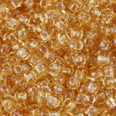 Preciosa kroglice Rocaille transparent silver lined sand 2.1 mm