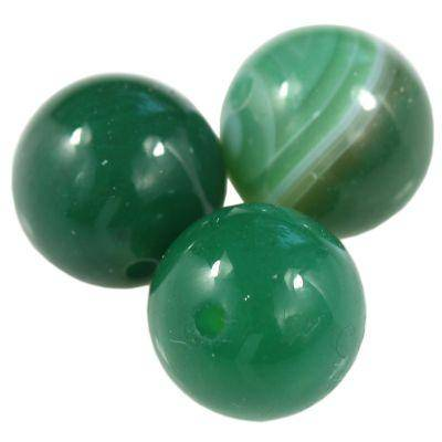 agat gładki ciemno zielony 12 mm kamień półszlachetny naturalny barwiony