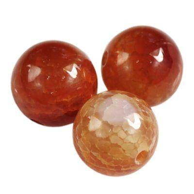 round craced iced agate fire 6 mm