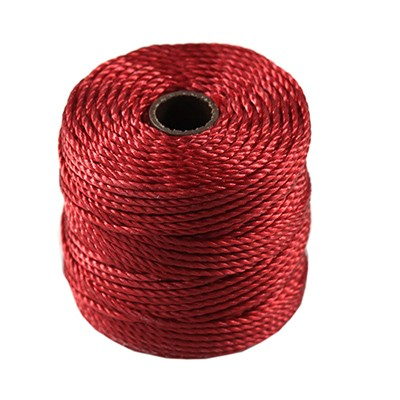 S-lon heavy macrame cord tex 400 shanghai red