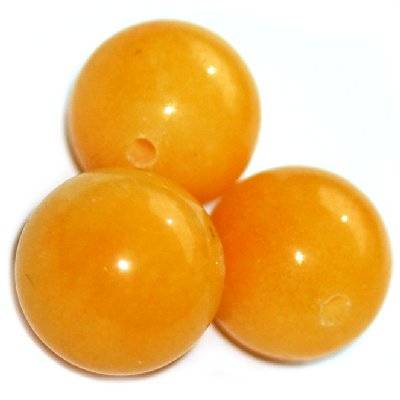 nephrite beads amber 10 mm / semi-precious stone dyed