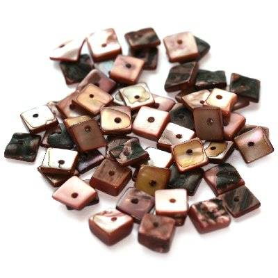 mother of pearl squares 1 cm