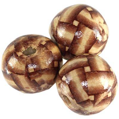 round wooden beads strips 20 mm
