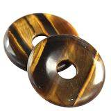tygrysie oko zawieszki okrągłe 40 mm kamień półszlachetny naturalny