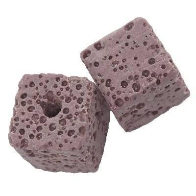 cubes volcan améthyste 12 mm