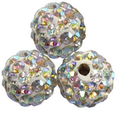 fimo round caramballa rhinestones ab 8 mm