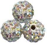 koraliki fimo kule caramballa ab kryształki 8 mm