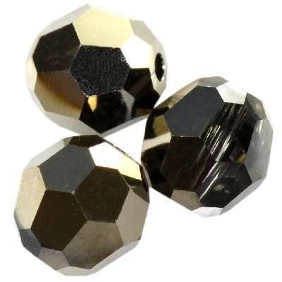 Swarovski round beads crystal metallic light gold 2x 4 mm