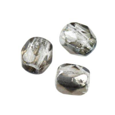 Czech Fire Polished beads 3mm round gray bronze shade