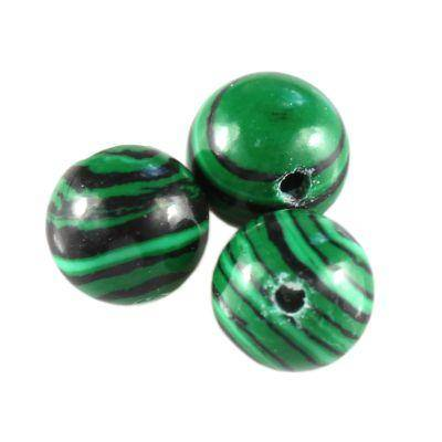 round malachite 8 mm