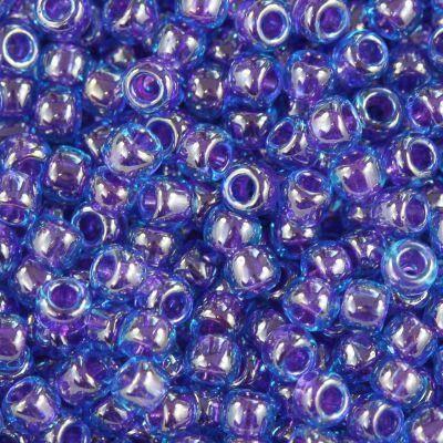 perles Toho round inside-color dk aqua/violet-lined 2.2 mm TR-11-361