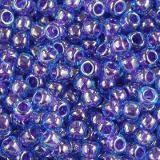 Toho beads round inside-color dk aqua/violet-lined 2.2 mm TR-11-361
