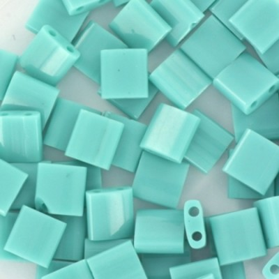 Perles Miyuki tila opaque turquoise green 5 mm #TL-412