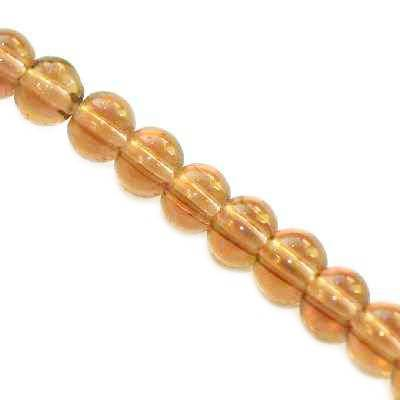 glass beads brown 3 mm