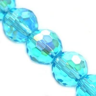 kryształki okrągłe błękitne 8 mm
