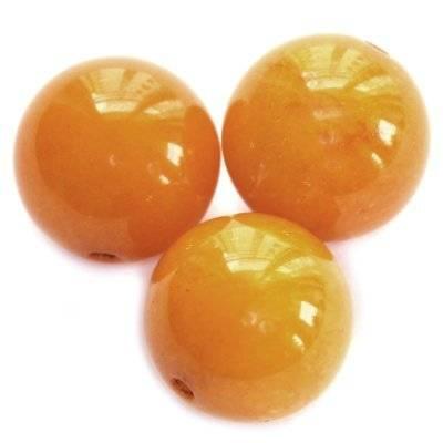 kule bursztynowy nefryt 12 mm kamień naturalny barwiony