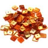 nacre carrés orange 1 cm