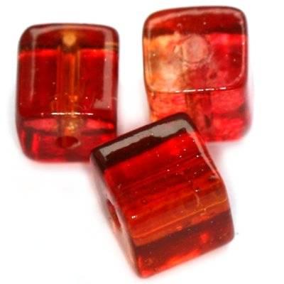 perles de crépitement cubes framboise 8 mm