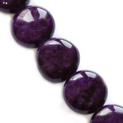 marble drops dyed amethystine 8 x 4 mm / natural stone dyed