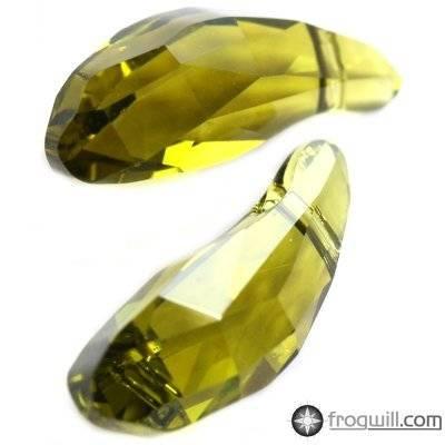 Swarovski aquiline beads olivine 18 mm