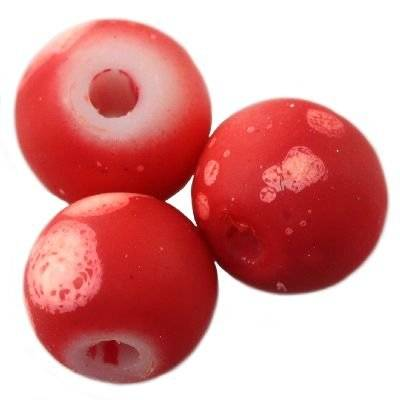 glass beads rubber coated galactic red 6 mm