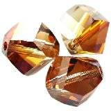 Swarovski helix beads crystal copper 8 mm