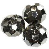 Swarovski briolette beads crystal silver night 6 mm