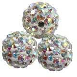 fimo round caramballa rhinestones ab 10 mm