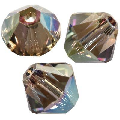 Swarovski bicone beads crystal iridescent green bi-cone beads 4 mm