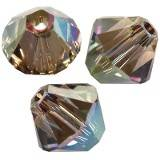 Swarovski bicone beads crystal iridescent green bi-cone beads 4 mm