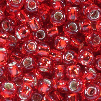 Toho siemenhelmi round silver-lined ruby 3 mm TR-08-25C