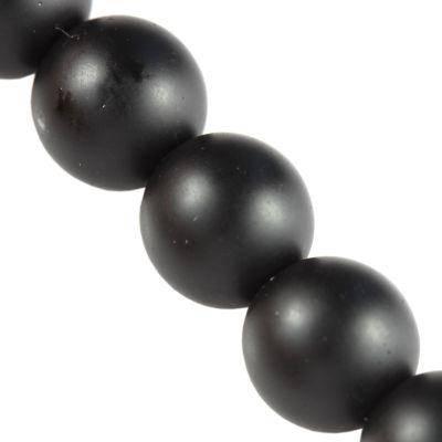 Perles sérigraphié noir 12 mm