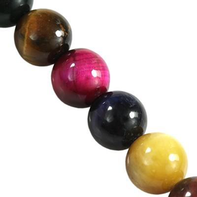 kule tygrysie oko miks kolorów 4 mm kamień półszlachetny naturalny barwiony