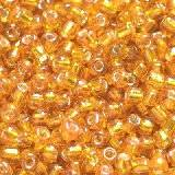 perles de graine de verre de 2 mm d'or rouge