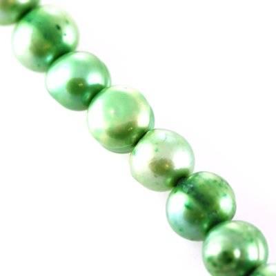 perełki słodkowodne 5-6 mm zielone