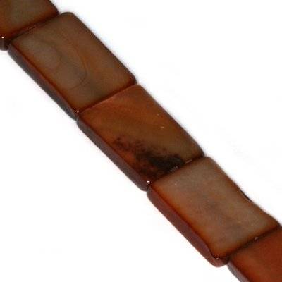 masa perłowa prostokąty 10 x 15 mm brązowe