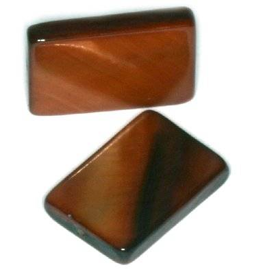 nacre rectangles 10 x 15 mm bruns