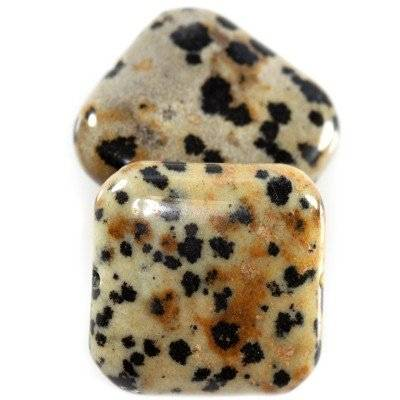 jasper dalmatian squares 20 x 20 mm / semi-precious stone