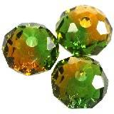 Swarovski briolette beads fern green-topaz bl. 6 mm