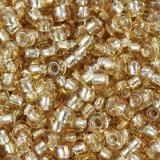 perles Preciosa Rocaille transparent silver lined sand 2.1 mm