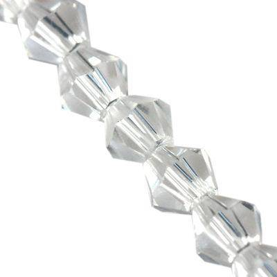 CrystaLine bicones clear 4 mm / crystal beads