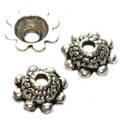 Metallene Kappen Studentenblumen 8 mm