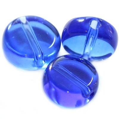 pastylki niebieskie 10 mm / koraliki szklane