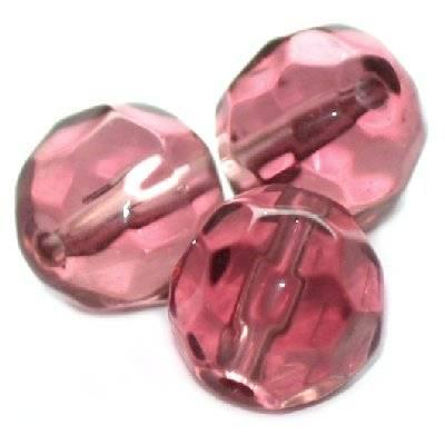 kryształki okrągłe ametystowe 8 mm