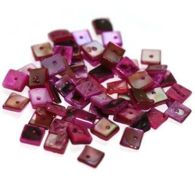 Perlmutter quadratisch rosa 1 cm