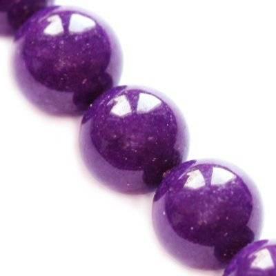 jadeit górski fioletowy 14 mm kamień naturalny barwiony